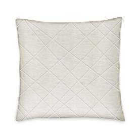 EARTH-26x26 Euro Sham - Quilted Natural Linen-BRFauxLther-Piping-3Sides_web
